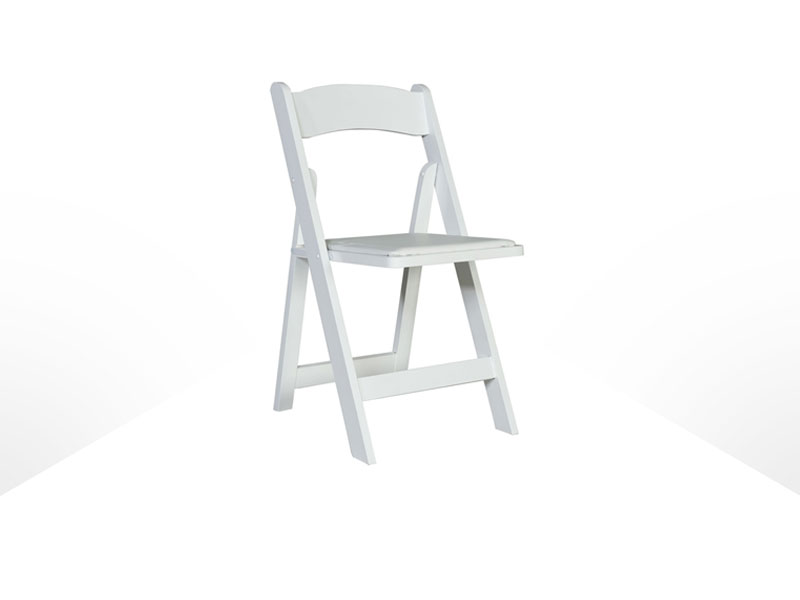 resin folding chairs for sale ebay ivory chair covers w padded seat black or white irent everything home rentals furniture event seating