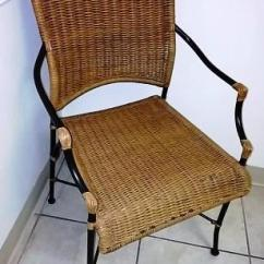 Comfortable Wicker Chairs Purple Chair Cushions Kitchen Brown Irent Everything