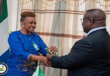 President Bio Receives Sierra Leonean Descendants from the United States at State House