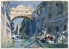 John Singer Sargent (American, Impressionism, 1856–1925): The Bridge of Sighs, c. 1903-1904. Watercolor on paper, 10 x 14 inches (25.4 x 35.6 cm). Brooklyn Museum, Brooklyn, New York, USA.