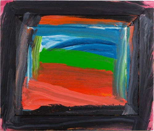 """""""Going to America,"""" 1999.  CreditHoward Hodgkin, All Rights Reserved"""