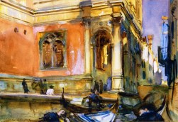 John Singer Sargent (American, Impressionism, 1856–1925): Scuola Grande di San Rocco, c. 1904. Graphite and watercolor on paper, 36.8 x 52.7 cm. Private Collection.