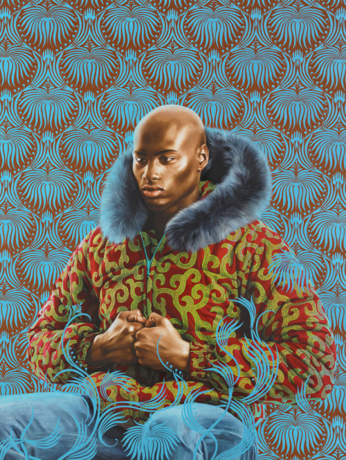 Kehinde Wiley (American, b. 1977): Kern Alexander Study I, 2011. Oil on paper, 53 x 40 inches. © Kehinde Wiley. Photo: kehindewiley.com © This artwork may be protected by copyright. It is posted on the site in accordance with fair use principles.