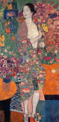 Gustav Klimt (Austrian; Art Nouveau, Vienna Secession, 1862-1918): The Dancer (formerly Ria Munk II), c. 1916-1918.
