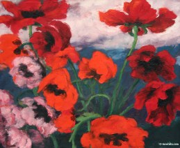 Emil Nolde (German, Expressionism, 1867–1956): Large Poppies, 1942.