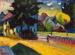 Wassily Kandinsky (Russian; Expressionism, Abstract Art; 1866-1944): View of Murnau, 1908. State Hermitage Museum, St.Petersburg, Russia. © This artwork may be protected by copyright. It is posted on the site in accordance with fair use principles.