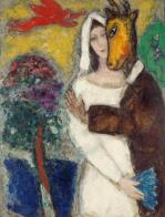 Marc Chagall (French, born Russia — present-day Belarus; 1887-1985): Midsummer Night's Dream, 1939. Oil on canvas, 116.5 x 67.9 cm. Musée de Grenoble, Grenoble, France. © This artwork may be protected by copyright. It is posted on the site in accordance with fair use principles.