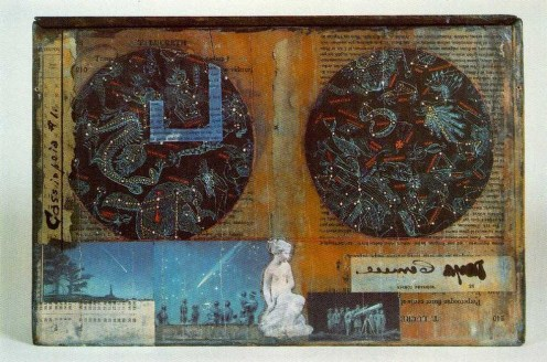 Joseph Cornell (American, Surrealism, Assemblage, 1903–1972): Cassiopeia I (verso), c. 1960. Construction; mixed media, box construction. Dimensions: 9-7/8 x 14-7/8 x 3-3/4 inches. © Estate of Joseph Cornell.