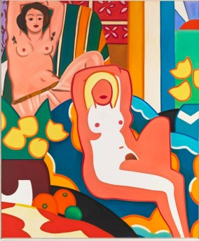 Tom Wesselmann (American; Pop Art, Assemblage; 1931-2004): Sunset Nude with Matisse Odalisque, 2003. Oil on canvas, 304.8 x 254 cm. © The Estate of Tom Wesselmann. Photo: Jeffrey Sturges
