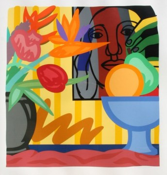 Tom Wesselmann (American; Pop Art, Assemblage; 1931-2004): Mixed Bouquet with Léger, from Portfolio 90; 1993. Screenprint in colors, on museum board; Scr. 44 x 40-1/2 inches (111.8 x 102.9 cm). Private Collection. © Estate of Tom Wesselmann / SODRAC, Montreal / VAGA, New York.