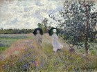 Claude Monet (French, Impressionism, 1840-1926): The Promenade near the Bridge of Argenteuil, 1874. Oil on canvas, 53.7 x 72.1 cm. St Louis Art Museum, Missouri, USA.