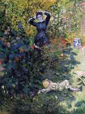 Claude Monet (French, Impressionism, 1840-1926): Camille and Jean Monet in the Garden at Argenteuil, 1873.