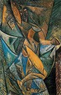 Pablo Picasso (Spanish; Cubism, African Period, 1881-1973): Dance of the Veils (La danse au voiles), 1907. Oil on canvas, 150 x 100 cm. State Hermitage Museum, St. Petersburg, Russia. © This artwork may be protected by copyright. It is posted on the site in accordance with fair use principles.