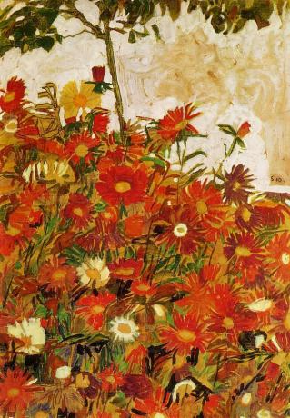 Egon Schiele: Field of Flowers, 1910.
