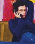 Elizabeth Peyton (American, b. 1965): Gavin on the Phone, 1998. Oil on board, 14-1/4 × 11-1/4 inches (36.2 × 28.6 cm). Private Collection. © Elizabeth Peyton.