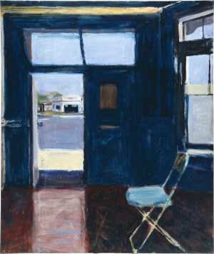 Richard Diebenkorn (American, Bay Area Figurative Movement, 1922–1993): Interior with Doorway, 1962. Oil on canvas, 70-2/5 × 59-1/2 inches (178.8 × 151.1 cm). © The Richard Diebenkorn Foundation. © This artwork may be protected by copyright. It is posted on the site in accordance with fair use principles.