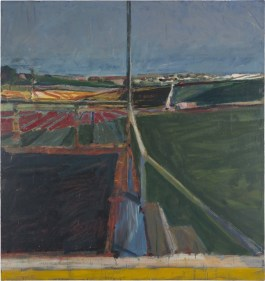 Richard Diebenkorn (American, Bay Area Figurative Movement, 1922–1993): View from the Porch, 1959. Oil on canvas, 177-4/5 × 167-3/5 inches (451.6 × 425.7 cm). © The Richard Diebenkorn Foundation. © This artwork may be protected by copyright. It is posted on the site in accordance with fair use principles.