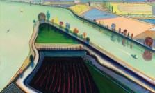 Wayne Thiebaud: River Boats, 2001. Richard Gray Gallery, Chicago, Illinois. © Wayne Thiebaud.