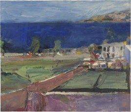 Richard Diebenkorn (American, Bay Area Figurative Movement, 1922–1993): Prisoners' Harbor, Santa Cruz Island, 1961. Oil on canvas, 54.6 × 63.5 cm (21-1/2 x 25 inches). Santa Cruz Island Foundation, Ventura, California, USA. © Richard Diebenkorn Foundation. © This artwork may be protected by copyright. It is posted on the site in accordance with fair use principles.