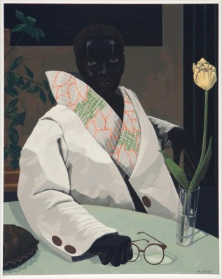 Kerry James Marshall, Portrait of a Curator (In Memory of Beryl Wright), 2009. Acrylic on VC; 30-7/8 x 24-7/8 x 1-7/8 inches. (78.4 x 63.1 x 4.8 cm). Courtesy of the artist and Jack Shainman Gallery, New York, © Kerry James Marshall.