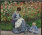 Claude Monet (French, Impressionism, 1840-1926): Camille Monet and a Child in the Artist's Garden in Argenteuil, 1875. Oil on canvas, 55.3 x 64.7 cm. Museum of Fine Arts, Boston, Massachusetts, USA. Image: Museum of Fine Arts, Boston.