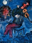 Marc Chagall (French, born Russia — present-day Belarus; 1887-1985): The Blue Fiddler, 1947. © This artwork may be protected by copyright. It is posted on the site in accordance with fair use principles.
