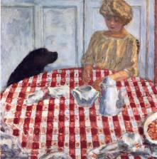 Pierre Bonnard (French, 1867-1947): The Red Checkered Tablecloth, 1910. Oil on canvas, 83 x 85 cm. Private Collection. © Artists Rights Society (ARS), New York / ADAGP, Paris. Image: © Museum of Fine Arts, Boston. © Artists Rights Society (ARS), New York/ADAGP, Paris. © This artwork may be protected by copyright. It is posted on the site in accordance with fair use principles.