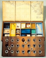 Joseph Cornell (American, Assemblage, 1903–1972): Object (Roses des Vents), c. 1942-53. Construction, 2-5/8 x 21-1/4 x 10-3/8 inches. The Museum of Modern Art, New York City, NY, USA. © The Joseph and Robert Cornell Memorial Foundation.