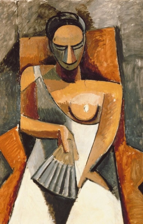 Woman with a Fan, by Pablo Picasso, 1908. From The State Hermitage Museum, St. Petersburg/© Succession Picasso.