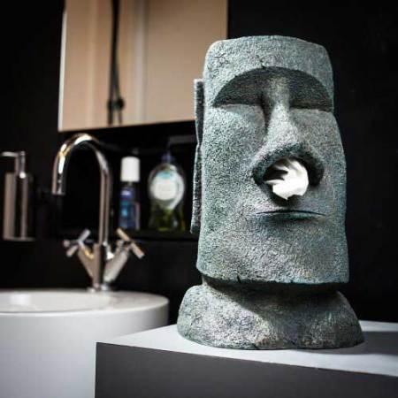 Moai Figur Kosmetiktuch-Box