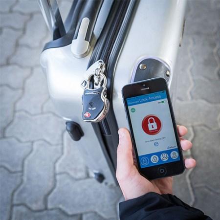 Kofferschloss mit Bluetooth - Handy App Gepäckschloss