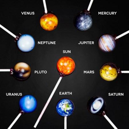 Planeten Lollis - das Sonnensystem als Lolli