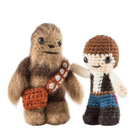 Star Wars Häkelset mit Han Solo und Chewbacca Häkelfigur