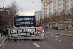 Kein Freispruch fuer Nazis und Justiz, Rassismus und Faschismus bekämpfen | Demo Magdeburg