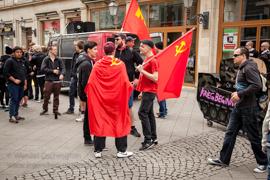 Maifeiertag in Magdeburg |  Demonstration Alter Markt