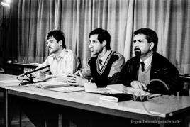 Pressekonferenz zur STASI Auflösung / Magdeburg Kroatenweg