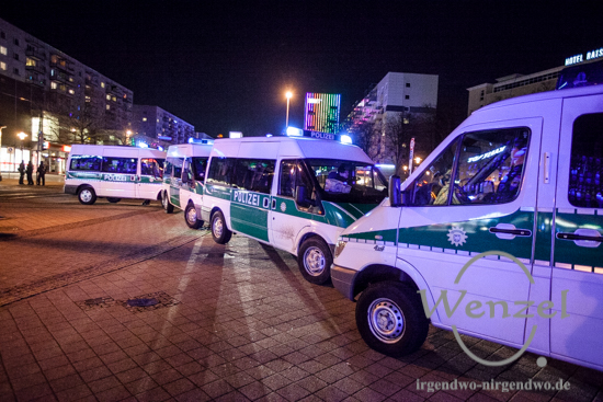 MAGIDA vs. NO MAGIDA  –  Polizeisperren in Magdeburg