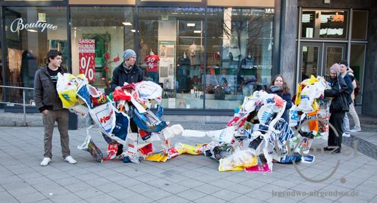 BUND Jugend und Die Wählerischen - eingesammelte Plastiktüten