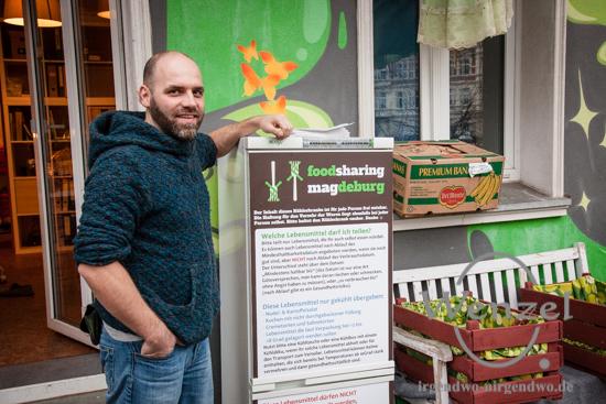 "Ralf Weigt vom Projekt ""Foodsharing"" Magdeburg"