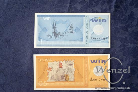 Alternative Regionalgeld:  das hier erwirtschaftete Geld bleibt in der Region