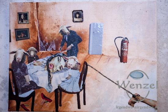 Hannah van Ginkel  –  Collagen auf Leinwand –  48 h Neukölln