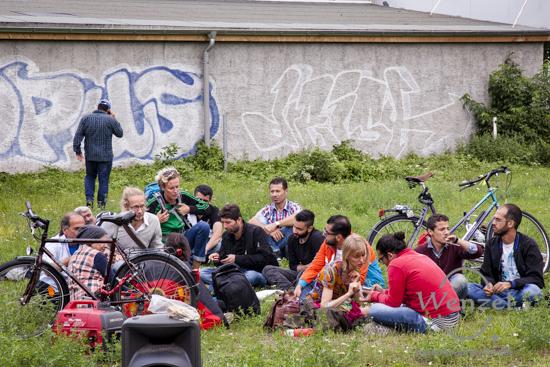 Demonstration gegen die  Asylgesetze der Bundesregierung - Magdeburg