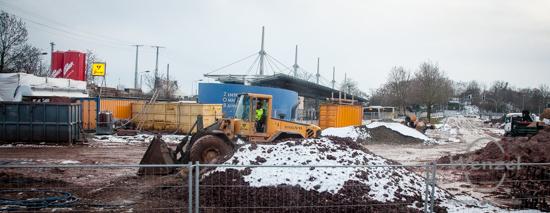 Baustelle City-Tunnel Magdeburg – Januar 2016