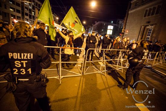 Magdeburger demonstrieren gegen AfD-Kundgebung