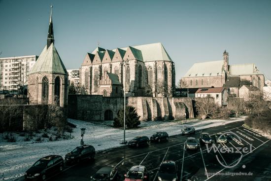 Unterwegs in Magdeburg - Januar 2016 - Walloner Kirche