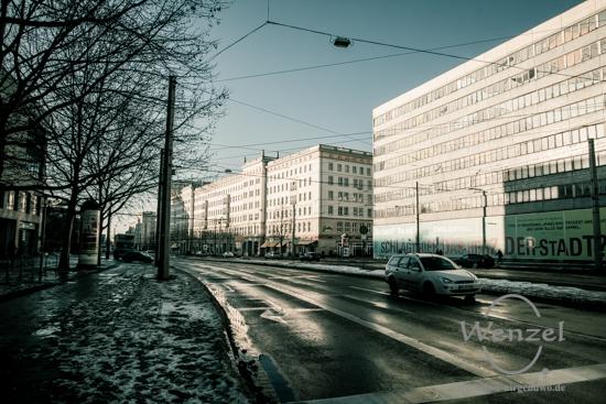 Unterwegs in Magdeburg - Januar 2016 - Ernst-Reuter-Allee