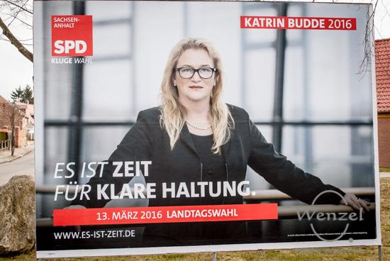 Katrin Budde - mit 15 Prozent ist die SPD nicht gerade Wählers Liebling