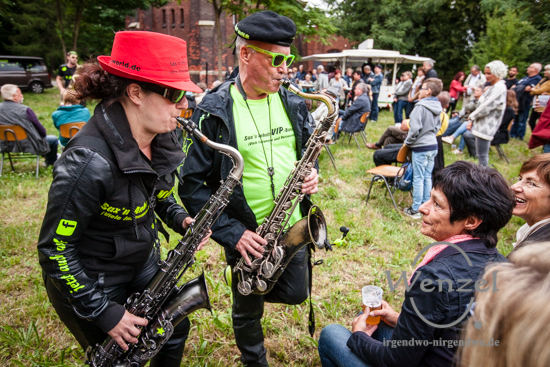 "Sax´n Anhalt VIP-Band  beim ""Jazz am Turm"" Sommerfest –  Foto Wenzel-Oschington.de"