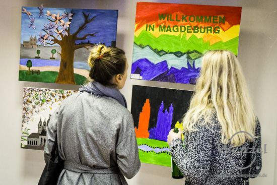 """Magdeburger Kulturnacht 2016  –   Kunstwettbewerb """"VerWANDlung""""  –  Foto Wenzel-Oschington.de"""