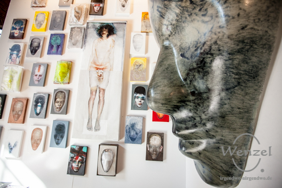 Agata Schubert-Hauck, Kunstmesse Mitteldeutschland, Turmpark Salbke, zeitgenössische Kunst, KUNST/MITTE, Magdeburg –  Foto Wenzel-Oschington.de